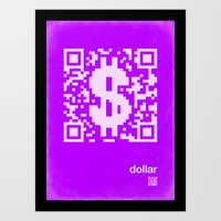 QR Dollar Art Print