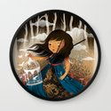 There Once Was A Girl In A Whimsical Land Wall Clock