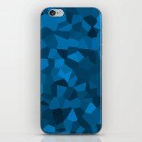 Blue Pixelated Geometric… iPhone & iPod Skin