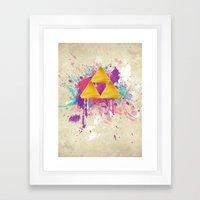 Splash Triforce Framed Art Print