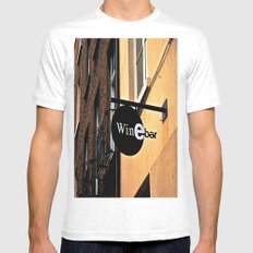 The Wine Bar Mens Fitted Tee White SMALL