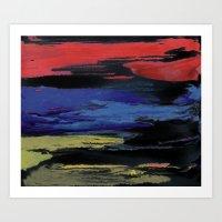 Primary Night Sky Art Print