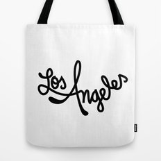 Los Angeles, Hand-Lettered Tote Bag