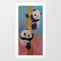Panda Fun Art Print