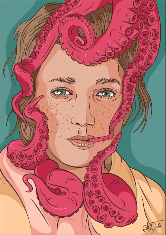 Tentacle illustration Art Print