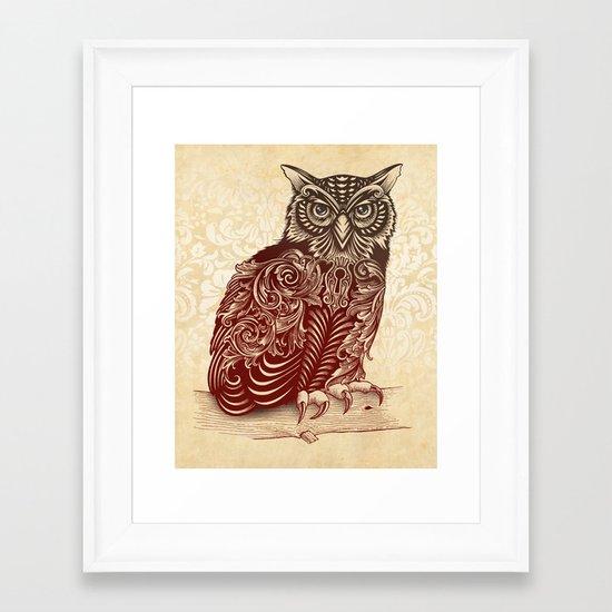 Most Ornate Owl Framed Art Print