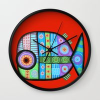 Fish Which Ate Ship Wall Clock