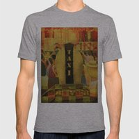 Taxi Driver Mens Fitted Tee Athletic Grey SMALL