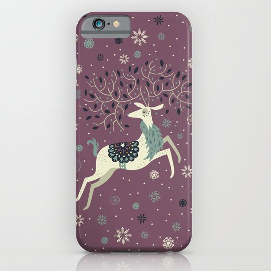 Prancing Reindeer iPhone & iPod Case