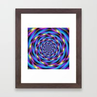 Vortex In Blue And Viole… Framed Art Print