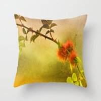 Robin's Pincushion Throw Pillow