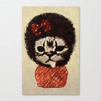 Cat (Pack-a-cat) Canvas Print