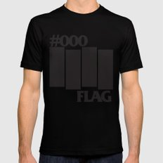 #000 Flag Black SMALL Mens Fitted Tee
