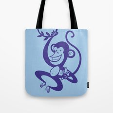 Blue Monkey Tote Bag