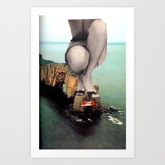 Sinking in Glamour Art Print