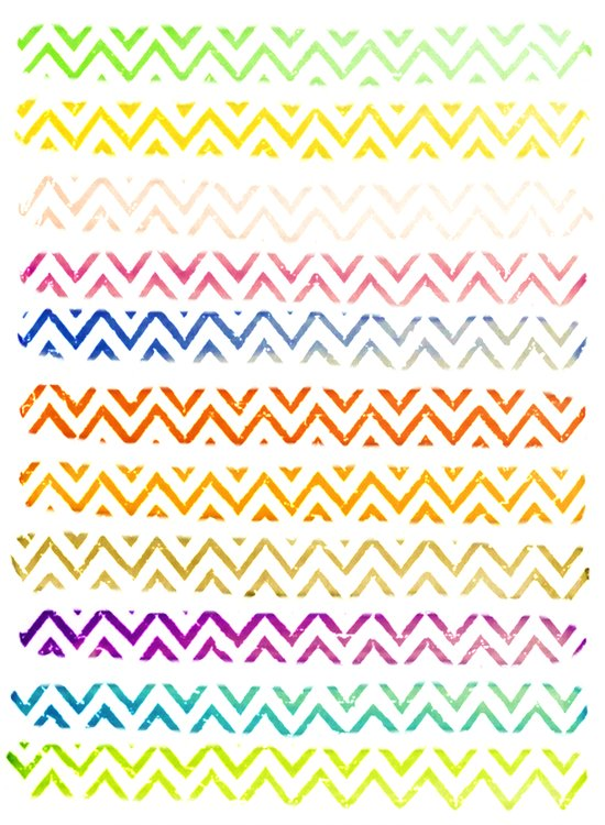 Chevron Stripes Art Print