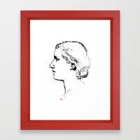 Old School Portrait  Framed Art Print