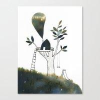 Tiny Tree House Canvas Print