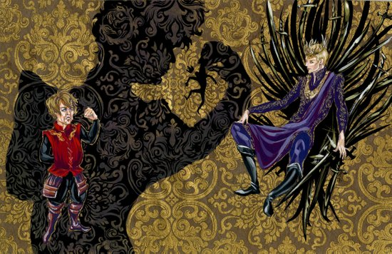 tryion+joffrey: the puppet show Art Print