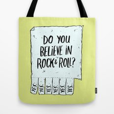 Believe in Rock & Roll Tote Bag