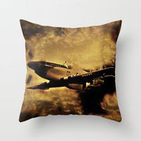 Dixie's Flight In The St… Throw Pillow