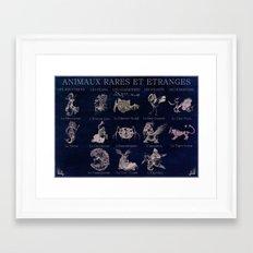 Strange and seldom animals Framed Art Print