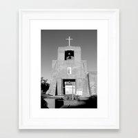 Santa Fe - San Miguel Mission   Framed Art Print