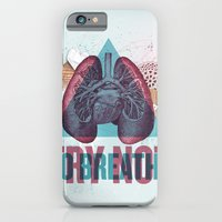 iPhone Cases featuring TRY NOT TO BREATHE by Nazario Graziano