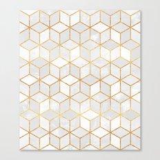 White Cubes Canvas Print