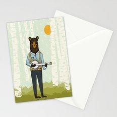 Bear's Bourree - Bear Playing Banjo Stationery Cards