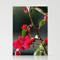 Red Blossoms Stationery Cards
