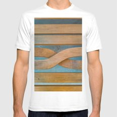 Cross the Wood White Mens Fitted Tee SMALL