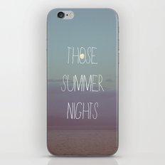 Those Summer Nights iPhone & iPod Skin
