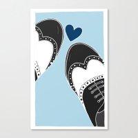 Brogues Love Canvas Print