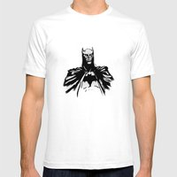 The Dark Bruce Mens Fitted Tee White SMALL