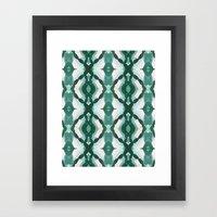 Watercolor Green Tile 1 Framed Art Print