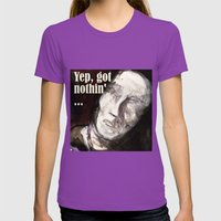 See no Evil Womens Fitted Tee Ultraviolet SMALL
