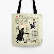 Tote Bag featuring Hero-glyphics: The Force by Josh Ln