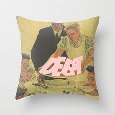 Debt Bondage Throw Pillow