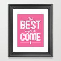 Hot Pink Hope  Framed Art Print