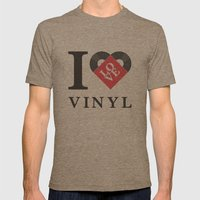 Vinyl Love Mens Fitted Tee Tri-Coffee SMALL