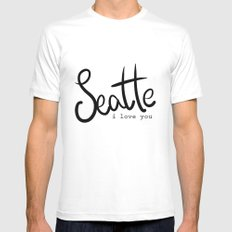 Seattle i love you  Mens Fitted Tee White SMALL