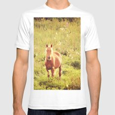 All the Pretty Horses Mens Fitted Tee SMALL White