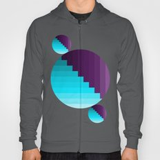 Ups and Down | Deep Within | Purple | Blue | Turquoise Hoody