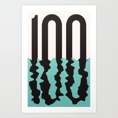 #100 Art Print
