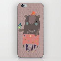Big Bear and Bluebird Pink iPhone & iPod Skin