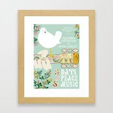 Woodstock Birdie Collage Print Framed Art Print