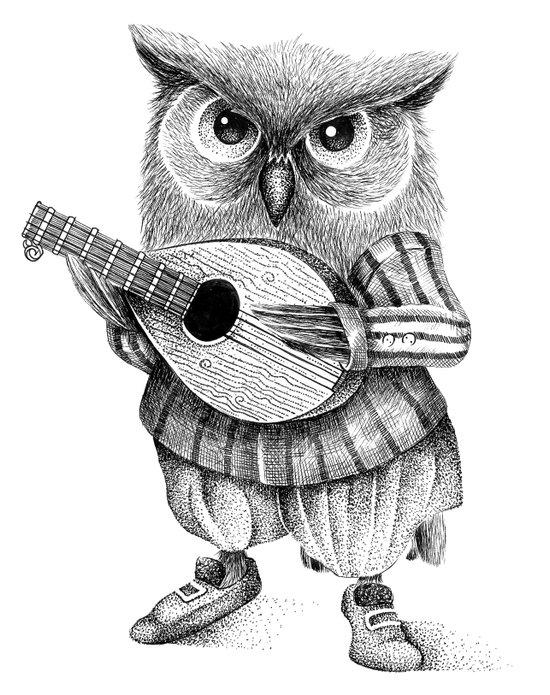 MISTER OWL Art Print