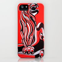 iPhone 5s & iPhone 5 Cases featuring laughing lion by Anastasia Fomina