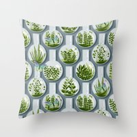 Tiny Planets Throw Pillow